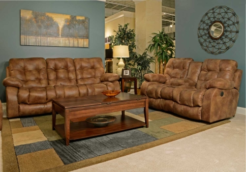 Watson Power Lay Flat Reclining Sofa Set - Almond