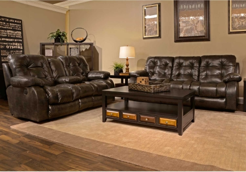 Watson Power Lay Flat Reclining Sofa Set - Coal