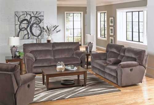 Nichols Power Reclining Sofa Set - Granite