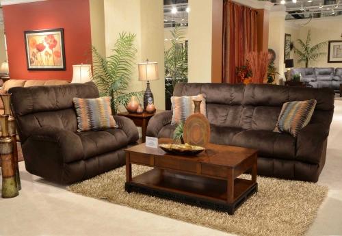 Siesta Lay Flat Reclining Sofa Set - Chocolate
