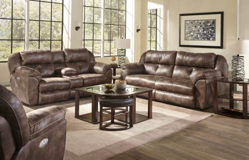 Ferrington Power Headrest Power Lay Flat Reclining Sofa Set - Dusk