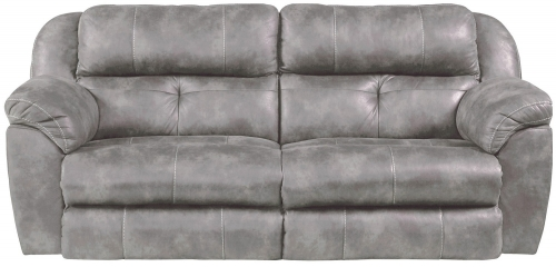 Ferrington Power Headrest Power Lay Flat Reclining Sofa - Steel