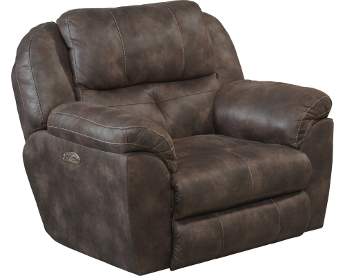 Ferrington Power Headrest Power Lay Flat Recliner - Dusk