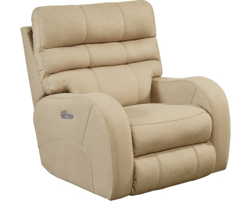 Kelsey Power Headrest Power Lay Flat Recliner - Doe