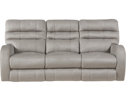 Kelsey Power Headrest Power Lay Flat Reclining Sofa - Aluminum
