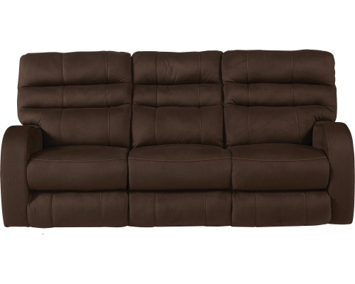 Kelsey Power Headrest Power Lay Flat Reclining Sofa - Walnut