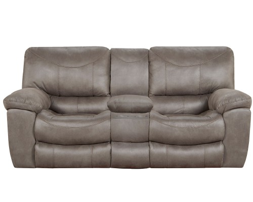 Trent Reclining Console Loveseat - Charcoal