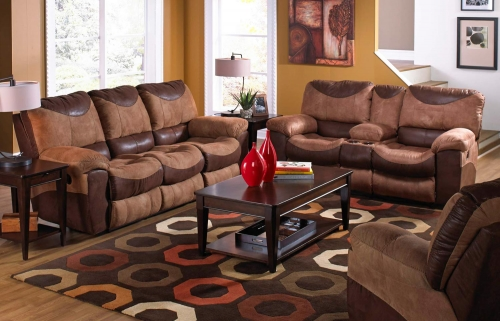 Portman Reclining Sofa Set B - Saddle-Chocolate