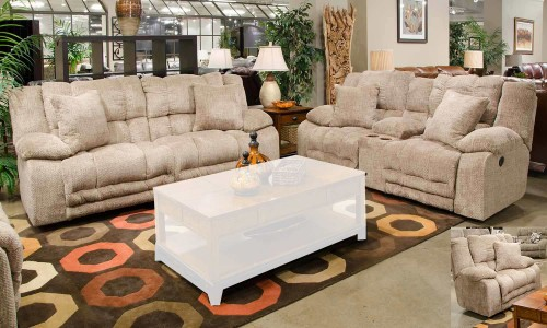 Branson Reclining Sofa Set - Camel