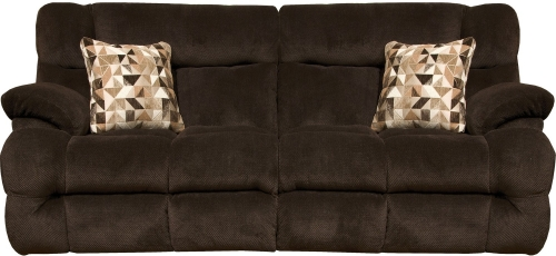 Brice Power Reclining Sofa with Power Headrest - Chocolate