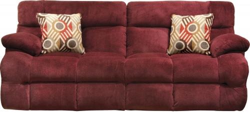 Brice Power Reclining Sofa with Power Headrest - Cranapple