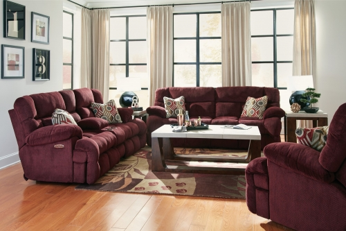 Brice Power Reclining Sofa Set - Cranapple