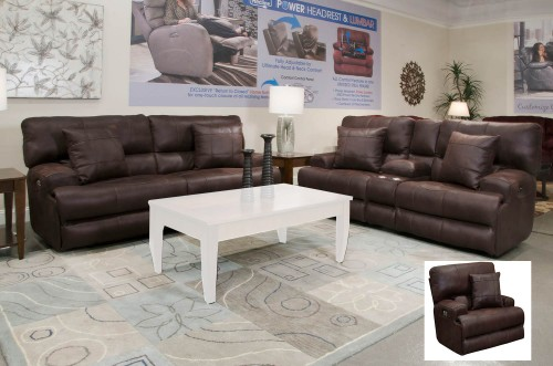 Monaco Reclining Sofa Set - Dark Chocolate