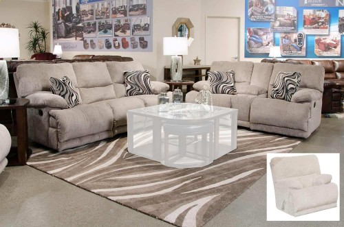 Jules Reclining Sofa Set - Pewter