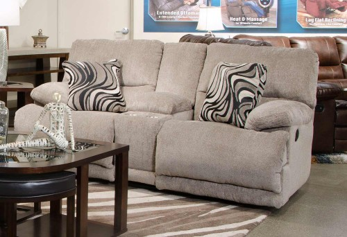 Jules Reclining Console Loveseat - Pewter