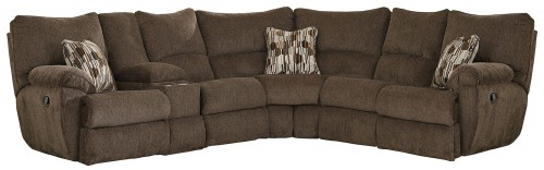 Elliot Reclining Sectional Sofa - Chocolate