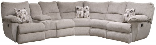 Elliot Reclining Sectional Sofa - Pewter