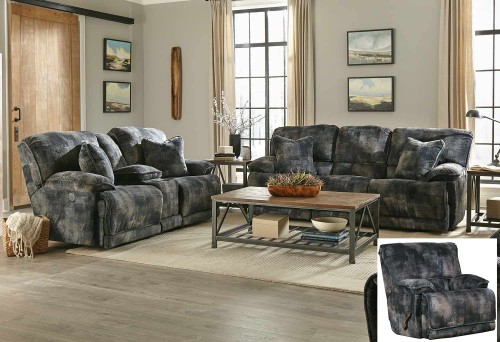 Bolt Reclining Sofa Set - Pewter