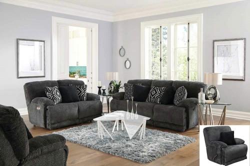 Montego Reclining Sofa Set - Ebony