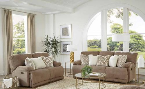 Montego Reclining Sofa Set - Linen