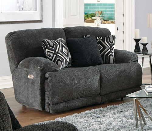 Montego Reclining Loveseat - Ebony