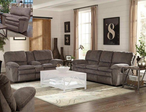 Reyes Reclining Sofa Set - Graphite