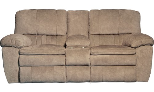 Reyes Reclining Console Loveseat - Portabella