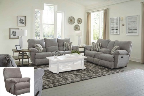 Sadler Reclining Sofa Set - Mica