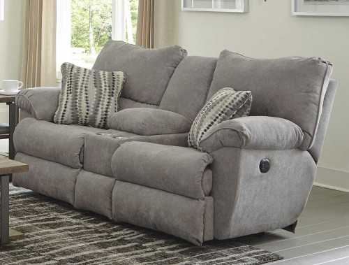 Sadler Reclining Console Loveseat - Mica