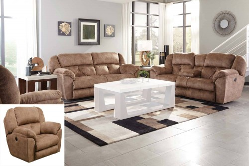 Carrington Reclining Sofa Set - Silk