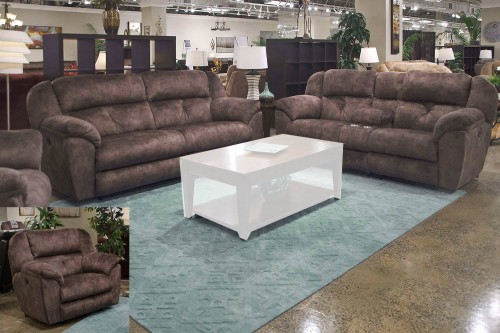 Carrington Reclining Sofa Set - Dusk