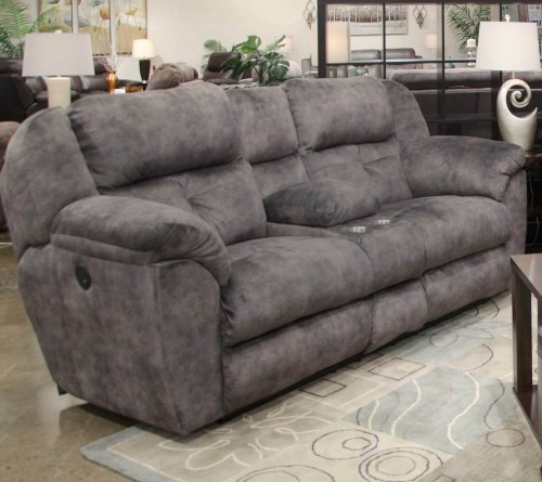 Carrington Reclining Console Loveseat - Greystone