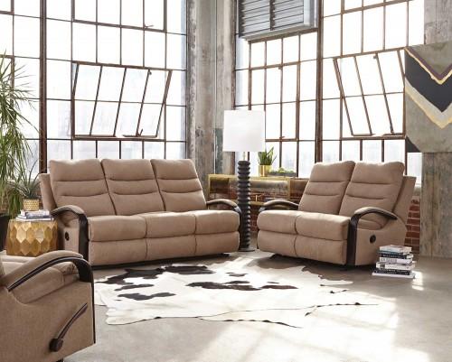 Jansen Reclining Sofa Set - Tumbleweed