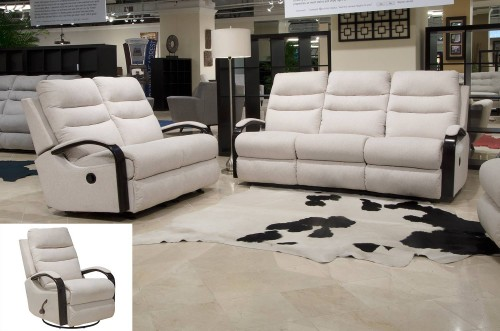 Jansen Reclining Sofa Set - Shell