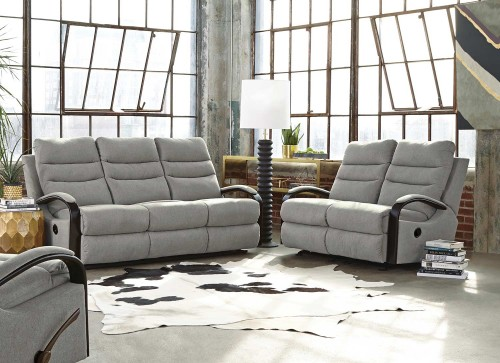 Jansen Reclining Sofa Set - Pebble