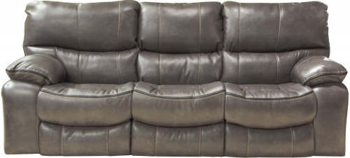 Camden Lay Flat Reclining Sofa - Steel