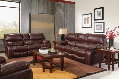 Camden Power Lay Flat Reclining Sofa Set - Walnut