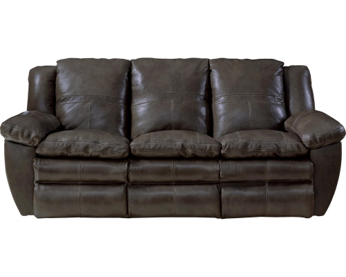 Aria Top Grain Italian Leather Lay Flat Power Reclining Sofa - Chocolate