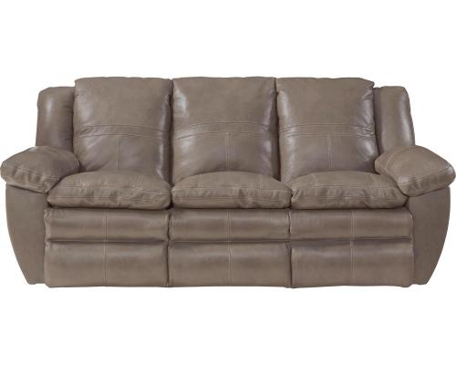 Aria Top Grain Italian Leather Lay Flat Reclining Sofa - Smoke