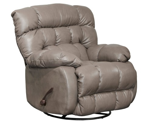 Pendleton Leather Recliner Chair - Light Grey