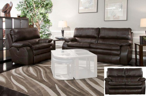 Verona Power Headrest Power Reclining Sofa Set - Chocolate