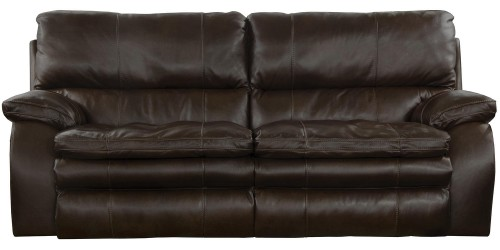 Verona Power Headrest Power Lumbar Power Reclining Sofa - Chocolate