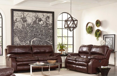 Verona Reclining Sofa Set - Walnut