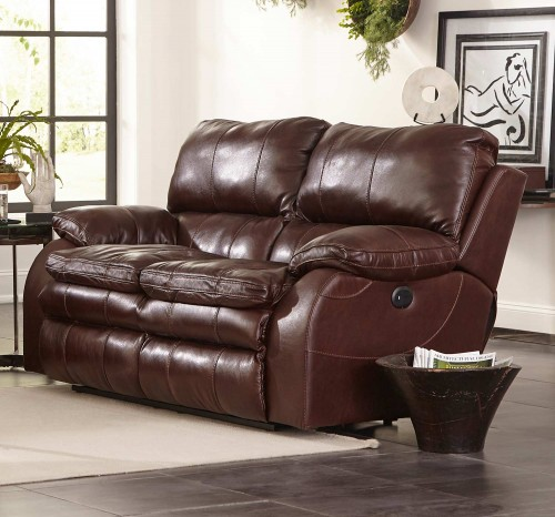 Verona Power Headrest Power Lumbar Power Reclining Loveseat - Walnut
