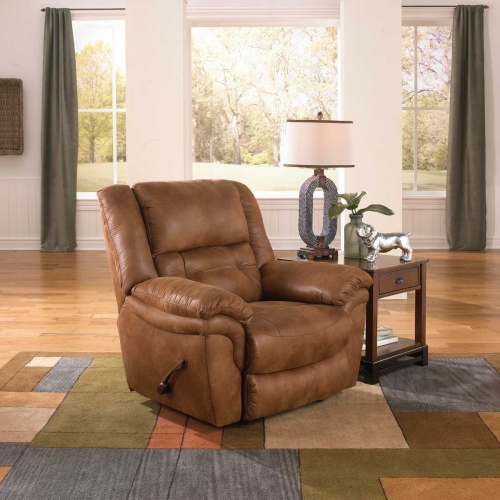 Joyner Power Lay Flat Recliner - Almond