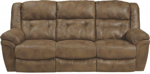Joyner Lay Flat Reclining Sofa with Drop Down Table - Almond