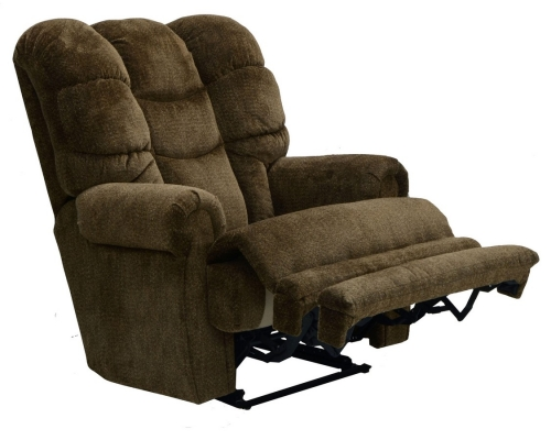Malone Power Lay Flat Recliner with Extended Ottoman - Basil
