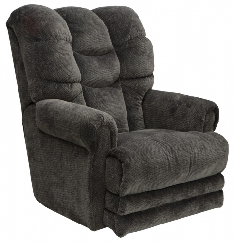 Malone Power Lay Flat Recliner with Extended Ottoman - Slate