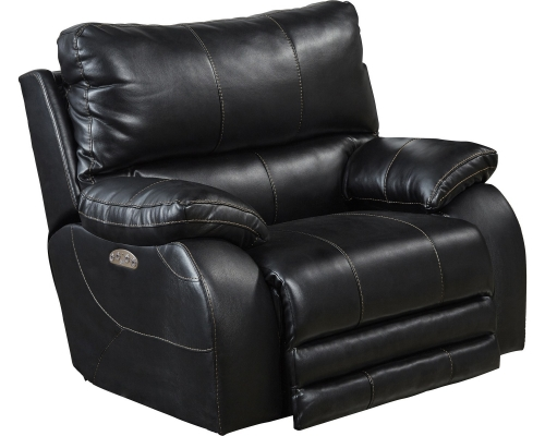 Sheridan Power Headrest Power Lay Flat Recliner - Black