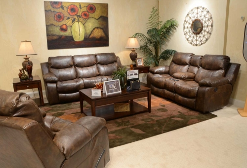 Catalina Power Reclining Sofa Set - Timber